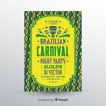 Braziliaanse carnavalsfeestvlieger