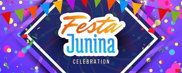 Braziliaanse festa junina-festivalbanner