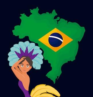 Braziliaanse garota danser karakter
