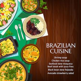Braziliaanse keuken cartoon poster