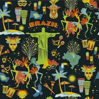 Braziliaanse patroon in kleurrijke stijl