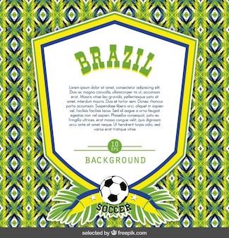 Brazilië badge sjabloon op kleurrijke achtergrond