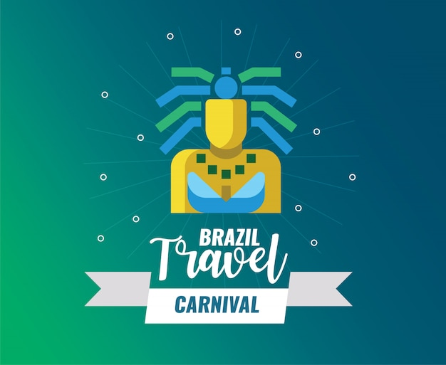 Brazilië carnaval en reizen logo
