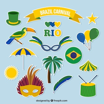 Brazilië carnaval etiketten