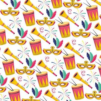 Brazilië carnaval vectorillustratie