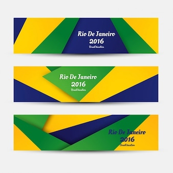 Brazilië kleuren banners