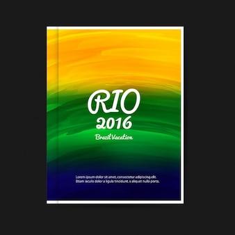 Brazilië kleuren flyer