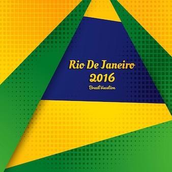 Brazilië kleuren gestippelde achtergrond