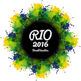 Brazilië kleuren grungy achtergrond