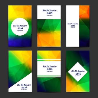 Brazilië kleuren moderne zakelijke sjablonen