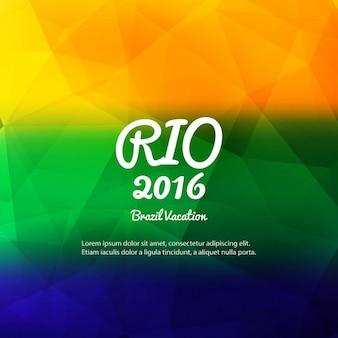 Brazilië kleuren veelhoek achtergrond
