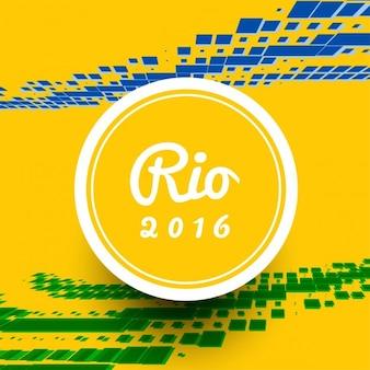 Brazilië kleurenthema moderne achtergrond