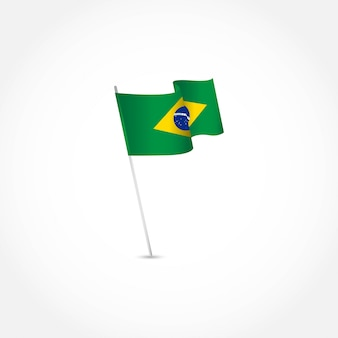 Brazilië onafhankelijkheidsdag sjabloon.