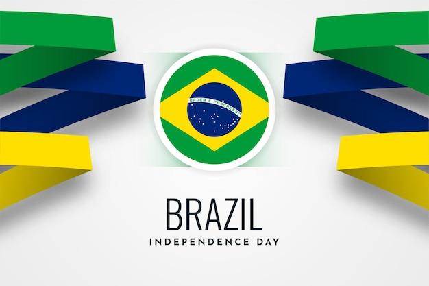 Brazilië onafhankelijkheidsdag viering illustratie sjabloonontwerp