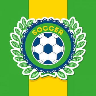 Brazilië ontwerp over vlag achtergrond vectorillustratie
