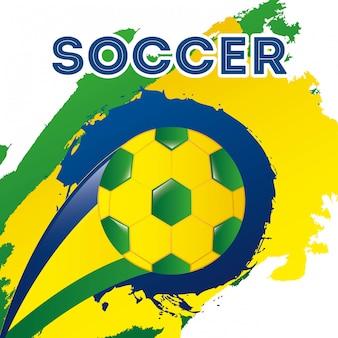 Brazilië ontwerp over witte achtergrond vectorillustratie
