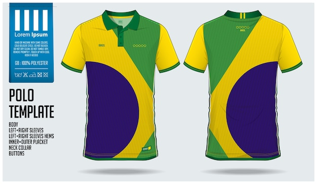Brazilië polo shirt sjabloon