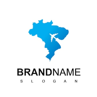Brazilië reizen logo sjabloon