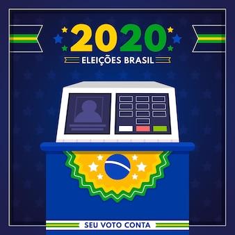 Brazilië stemmen verkiezingen illustratie