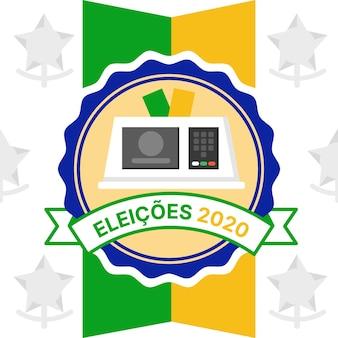 Brazilië verkiezingen 2020 illustratie