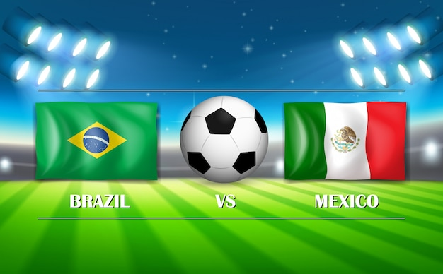 Brazilië versus het voetbalstadion van mexico
