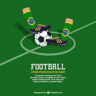 Brazilië voetbal vector gratis afbeelding