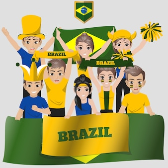 Brazilus national team supporter