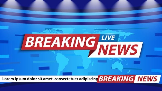 Breaking news achtergrond tv-kanaal nieuws screensaver