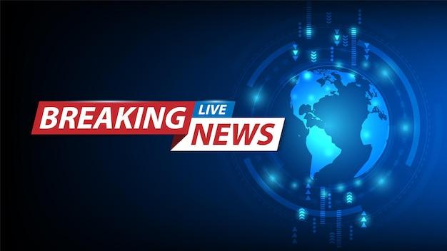 Breaking news achtergrond tv-zender nieuws screensaver