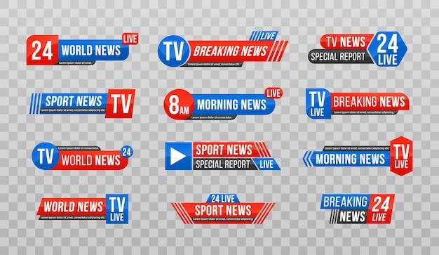 Breaking news banner tekstbalk