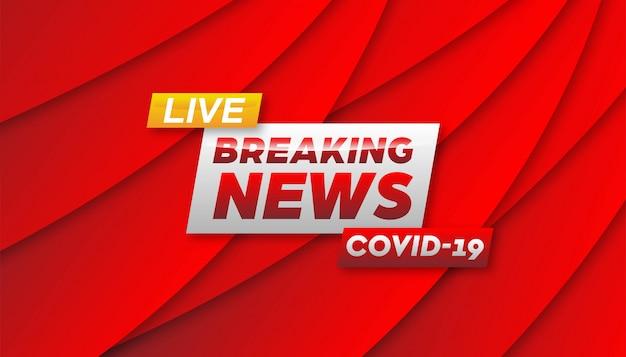 Breaking news coronavirus banner background template.