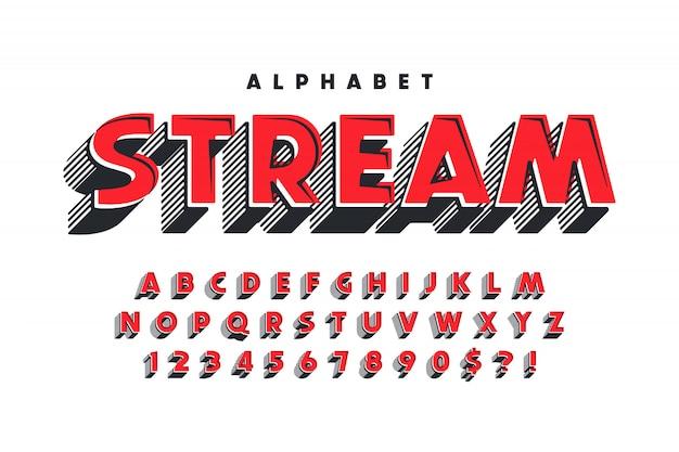 Breaking news display font design, alfabet, abc