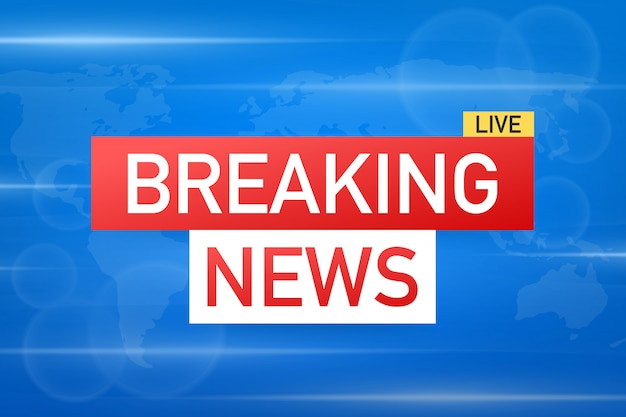 Breaking news live op world map background. nieuwsachtergrond, infographic met nieuwsthema