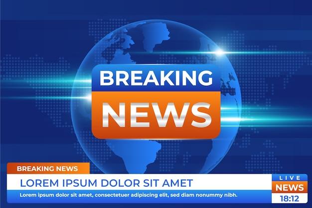 Breaking news televisie