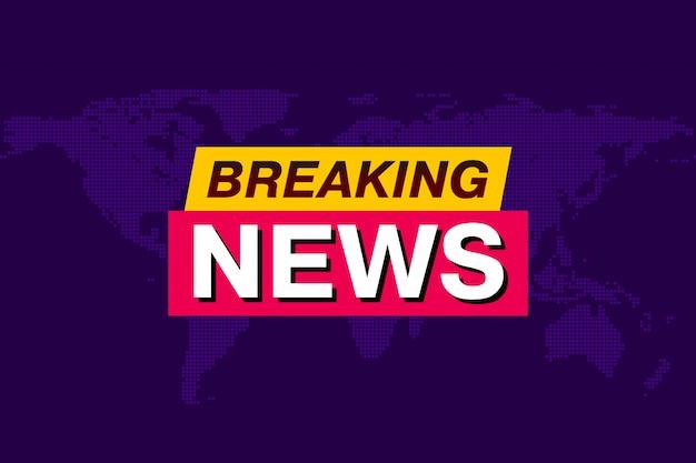 Breaking news, tv-schermachtergrond