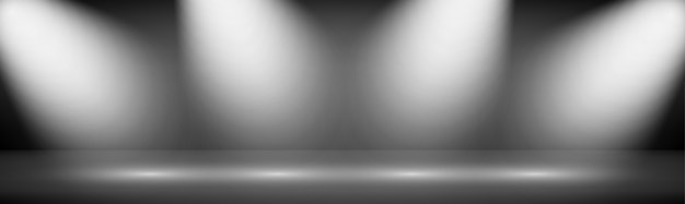 Brede gradient moderne studio showcase achtergrond met verlichting