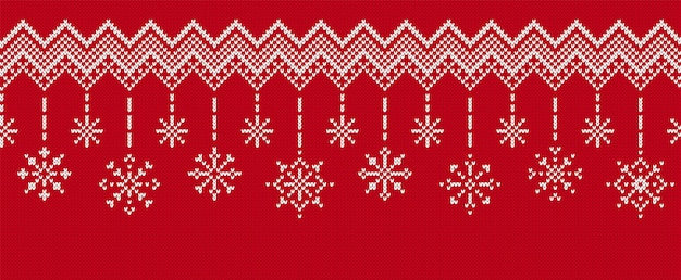 Brei naadloze achtergrond. kerst grens met sneeuwvlokken.