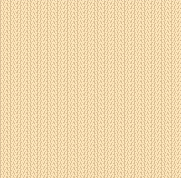 Brei textuur gele kleur. vector naadloze patroonstof. platte achtergrondontwerp breien.
