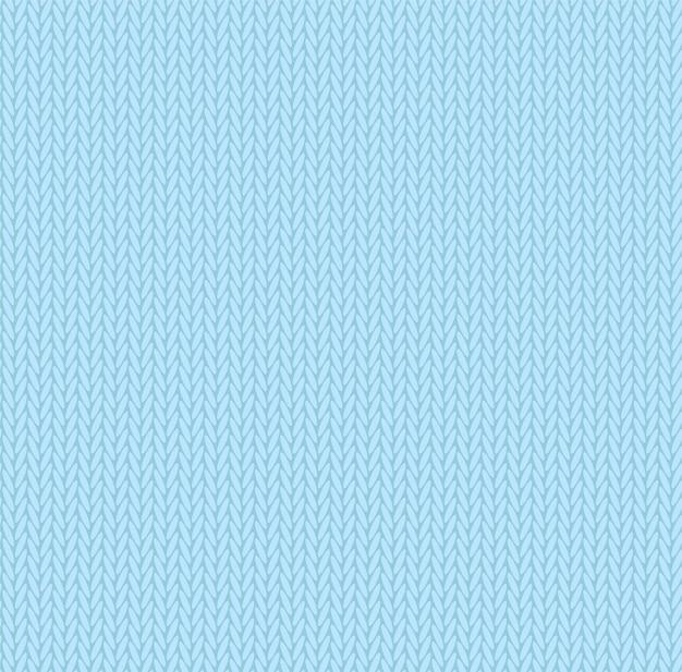 Brei textuur hemelsblauwe kleur. naadloze patroon stof. breien achtergrond plat ontwerp.