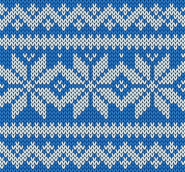 Breiende naadloze patroonachtergrond met sneeuwvlokkenvector