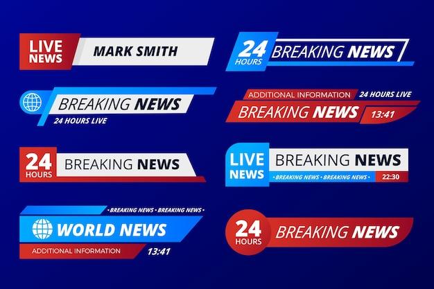 Brekend nieuws banners sjabloon