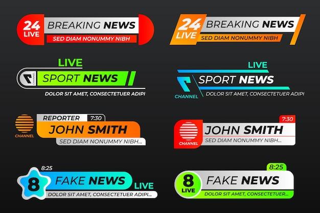 Brekend nieuws banners sjabloonontwerp