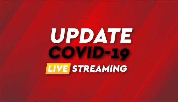 Brekend nieuws coronavirus banner vector achtergrondsjabloon.