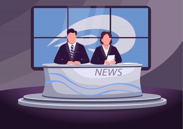 Brekend nieuws egale kleur illustratie
