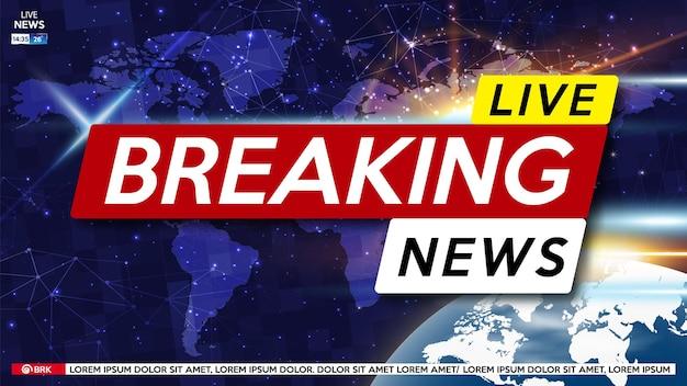 Brekend nieuws live op wereldkaart.