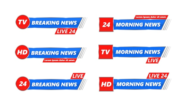 Brekend nieuws tv-banners instellen.