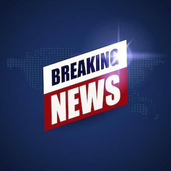 Brekend nieuwsachtergrond, het ontwerp van de het nieuwsbanner van wereld tv
