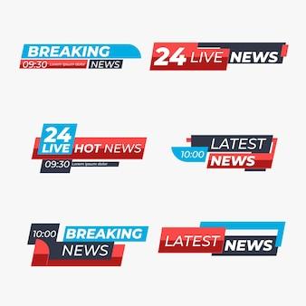 Brekende nieuwsbanners collectie