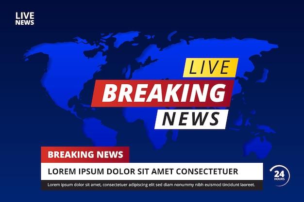 Brekende nieuwsstijl
