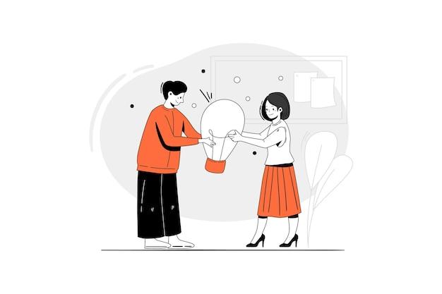 Breng een nieuw idee illustratie concept